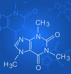 Chemical formula on blue background - formula of vector