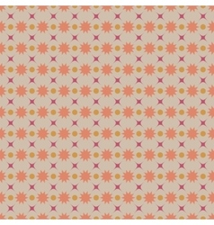 Circle and star pastel seamless pattern vector image