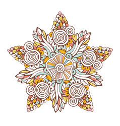 colorful mandala ornament for coloring book vector image