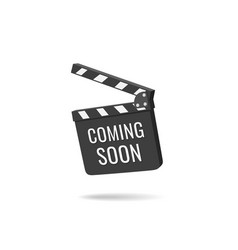Coming soon clapper board isolated vector