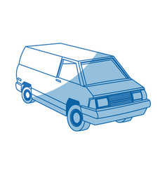 Commercial vehicle - delivery van cargo transport vector