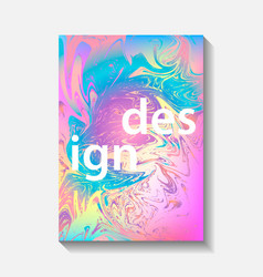 Creative design posters with marbling vector