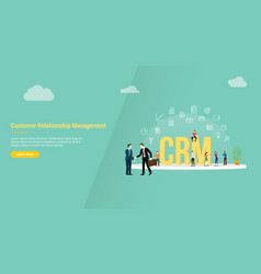 crm customer relationship management concept for vector image