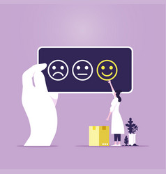 customer review rating concept vector image