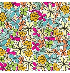 Cute floral seamless background vector