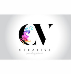 Cv vibrant creative leter logo design with vector