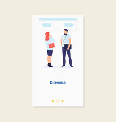 Dilemma of businessmanbusiness decision concept vector