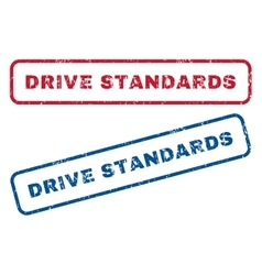 Drive Standards Rubber Stamps vector image