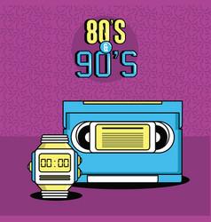 eighties and nineties style vector image