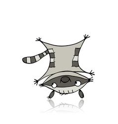 Funny raccoon for your design vector image