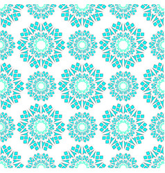 geometric pattern white green vector image
