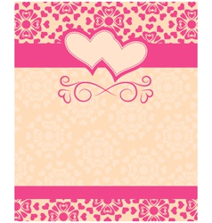 Greeting card Happy Valentines Day and wedding day vector