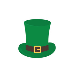 hat is a top hat with a strap and a golden vector image