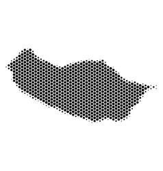 Hexagon halftone portugal madeira island map vector
