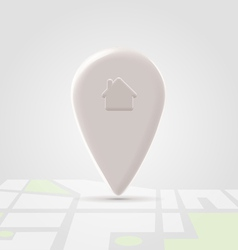 Home local pin over map block vector image vector image