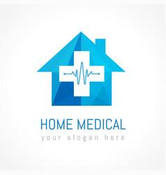 Home medical logo concept vector