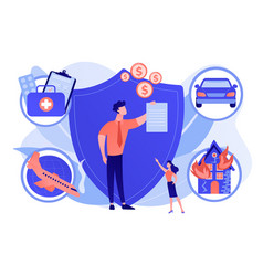 Insurance broker concept vector
