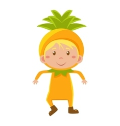 Kid In Pineapple Costume vector image