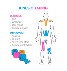 Kinesio taping reduses and improves vector