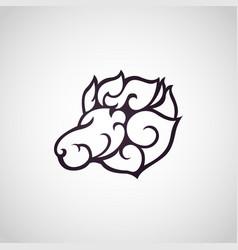 Lion logo icon design vector
