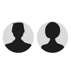 Male and female face silhouette or icon man and vector