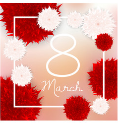 March 8 international women s day greeting vector