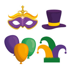 Mardi gras carnival elements vector