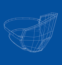 medical surgical mask blueprint style vector image