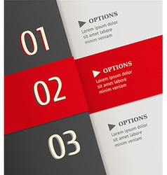 Modern brochure design template with numbers vector