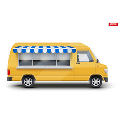 modern food truck vector image