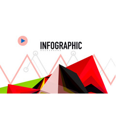Modern triangle presentation template vector