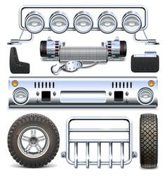Offroad Car Spares vector image