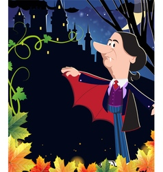 Old vampire near the ancient castle vector