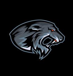 panther mascot logo vector image