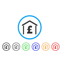 pound garage rounded icon vector image