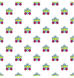 Princess carriage pattern seamless vector