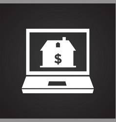 Property online buy sell on black backgorund vector