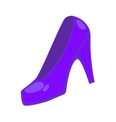 purple colored heeled shoe vector image