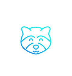 Raccoon line icon logo vector