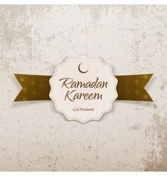 Ramadan kareem eid mubarak realistic emblem vector