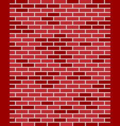 red brick wall texture vector image