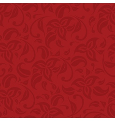 Red floral seamless background vector