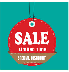 red tag sale sale limited time special discount ve vector image