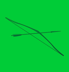 Robin hood lincol green bow and arrow vector