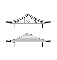 roof for entrance in asian style isolated vector image