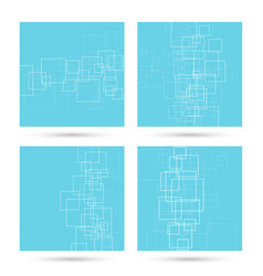 set abstract backgrounds vector image