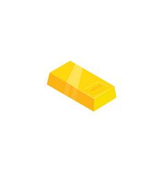 shiny gold brick vector image