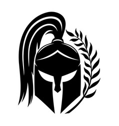 sign of black spartan helmet vector image