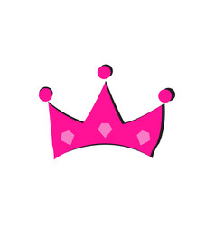 silhouette of a crown vector image