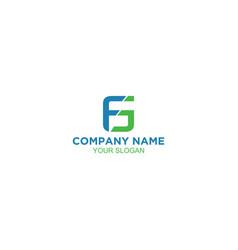 Simple fg logo design vector